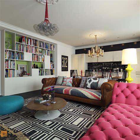 pop interior design bright and cheerful interior design by pavel polinov