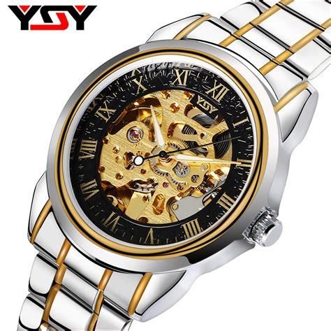 Luxury Mens Fashion Steunk Skeleton Mechanical Wind yisuya mechanical ᗑ automatic automatic self wind luxury ᐂ business business casual