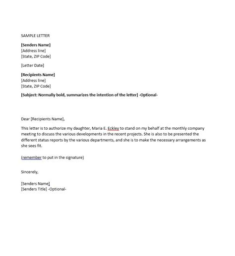 Authorization Letter Ending 46 Authorization Letter Sles Templates Template Lab
