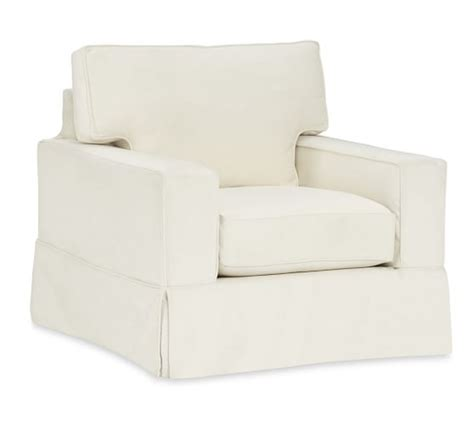 pb comfort square quick ship pb comfort square arm slipcovered armchair
