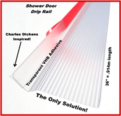Shower Door Drip Edge Univerally Adjustable Shower Door Drip Rail W 3m Vhb The Only Solution Photo With Text