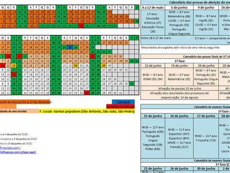 calendario escolar   em excel economia  financas