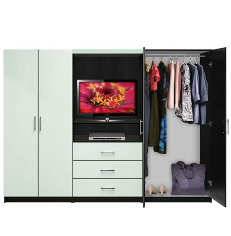 Bedroom Wardrobe Wall Unit Aventa Bedroom Wall Unit Tv Unit W Drawers And Doors