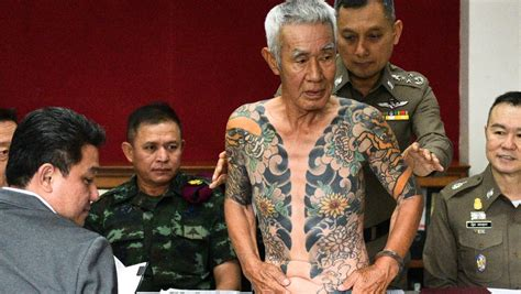 japanese crime boss held in thailand after yakuza