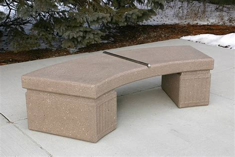 concrete curved bench mb curved bench mb60slsr doty concrete
