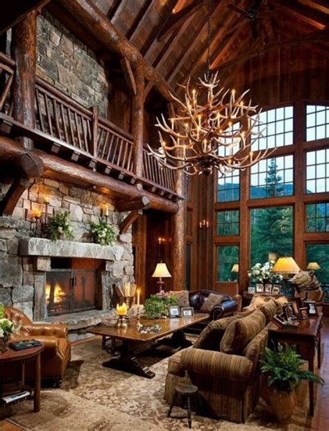 Southwestern Home Designs by Rustic Log Cabin Home Log Me In Pinterest