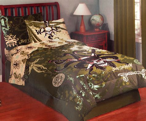 Pirate Bed Sets Disney Caribbean Kraken Skull Bed Comforter