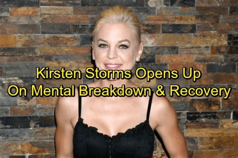Kirstens Opens Up by General Hospital Spoilers Kirsten Storms Opens Up About