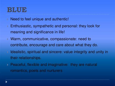 what does the color blue in a blue color psychology blue meaning personality