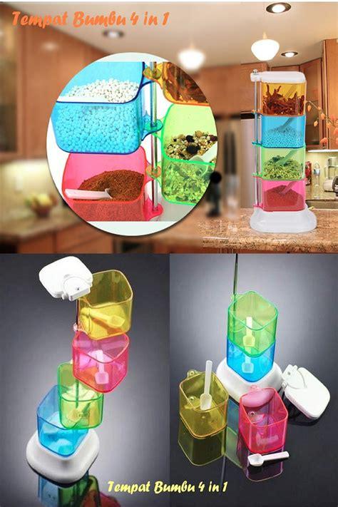 Jual Tempat Bumbu Dapur Unik jual tempat bumbu unik 4 susun aneka warna free buble