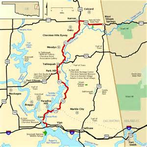 national scenic byways cherokee hills byway map america s byways