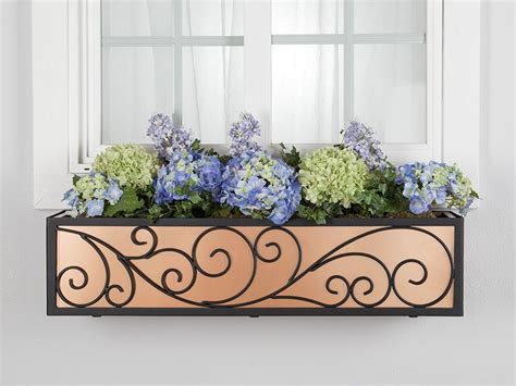Wrought Iron Window Boxes Planters by The Wisteria Window Box Cage Square Design Wrought