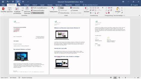 Brief In Word Erstellen Mit Der Vorlagenl 246 Sung Oneoffixx In Microsoft Word 2016 Einen Brief Erstellen