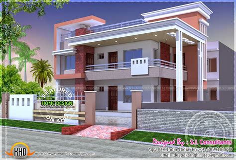 duplex house plans indian style homedesignpictures modern duplex home kerala design floor plans home plans