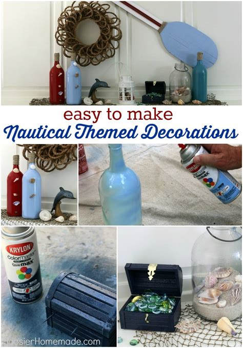 Beach Home Decorating Ideas Nautical Themed Decorations Hoosier Homemade