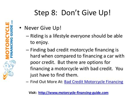 Motorcycle Dealers For Bad Credit by Obtain Bad Credit Motorcycle Financing Approval