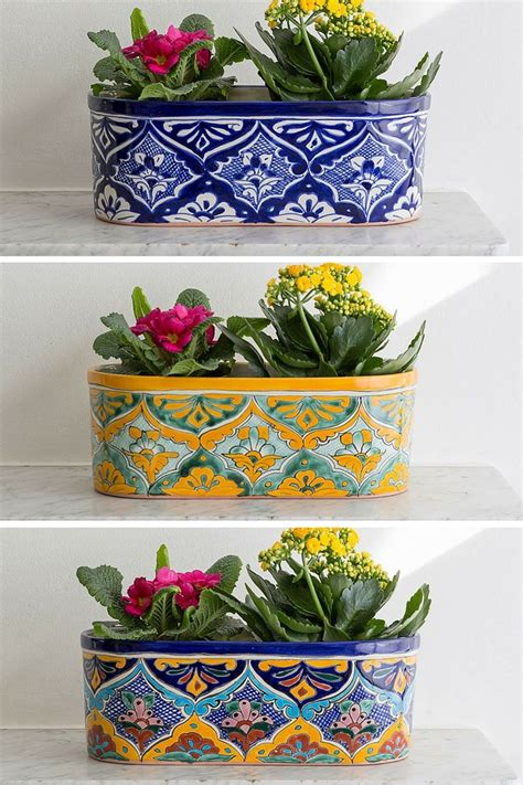 Mexican Planters Outdoor by Best 25 Mexican Garden Ideas On Style