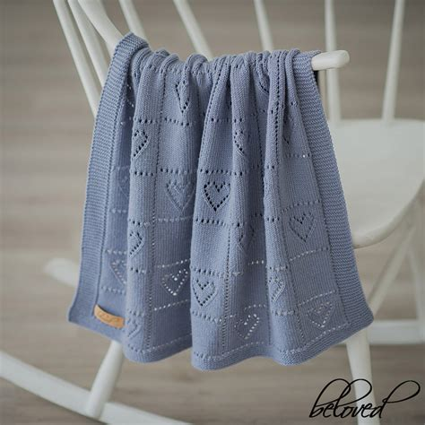 lace heart pattern knitting lace heart knit baby blanket hand knitted newborn throw