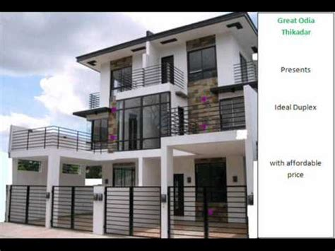 Sample Duplex Houses For Construction Youtube Duplex House Plans In Lucknow