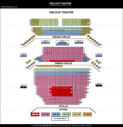 best seats gielgud theatre gielgud theatre seat map and prices for the curious