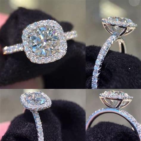 details about 1 88ct brilliant cut moissanite halo promise