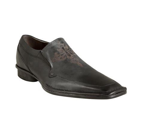 nason loafers nason lounge black leather mescal square toe loafers