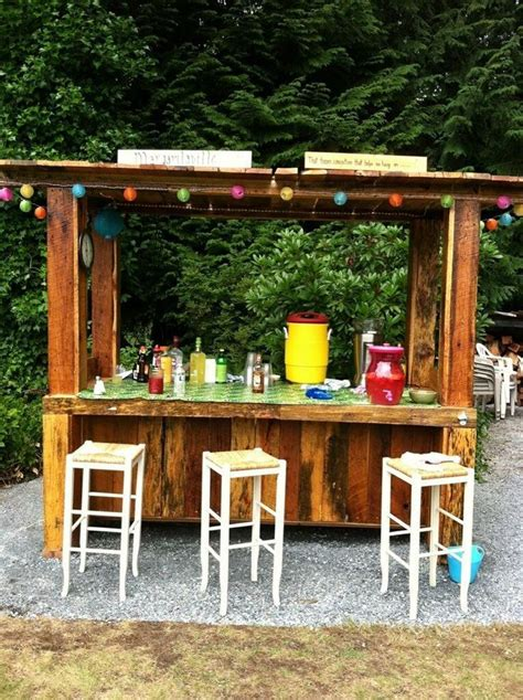 diy backyard bar diy pallet tiki bar how to and diy pinterest tiki
