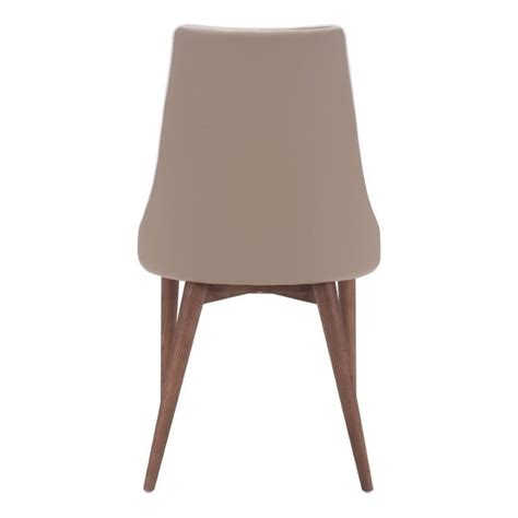 Beige Leather Dining Chairs Brika Home Faux Leather Dining Chair In Beige Br 673922