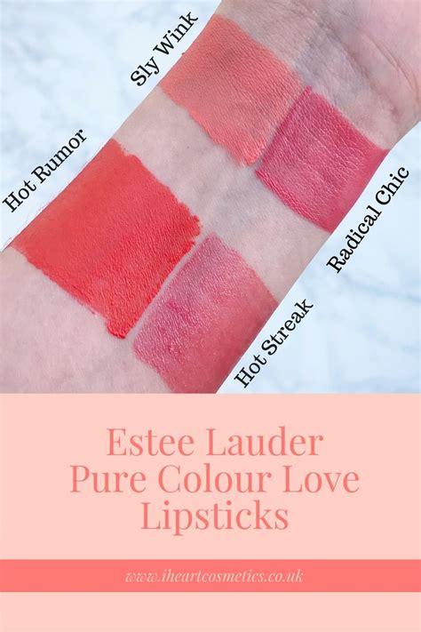Estee Lauder Lipstick 2 estee lauder colour lipstick reds and oranges