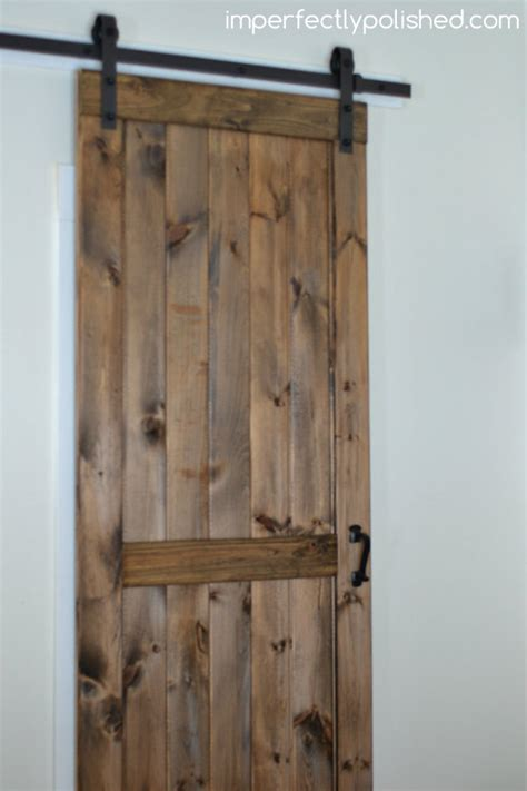 diy barn door interior diy barn door