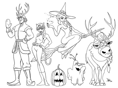frozen coloring pages momjunction frozen halloween coloring page mommy in sports