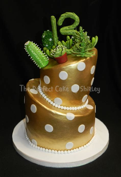 Succulent/cactus Topsy Turvy Cake   CakeCentral.com