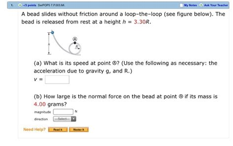a bead slides without friction around a loop the loop a bead slides without friction around a loop the l