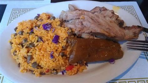 Bethany Beach Bed And Breakfast Arroz Con Gandules Pastel Y Lechon Picture Of El Fogon