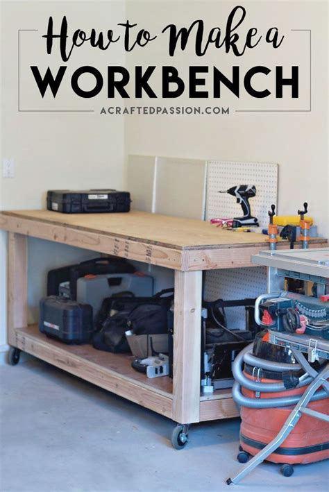 Garage Storage And Workbench Best 25 Rolling Workbench Ideas On