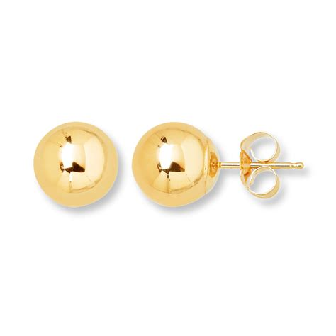 Gold Stud Earrings stud earrings 8mm 14k yellow gold 392775805