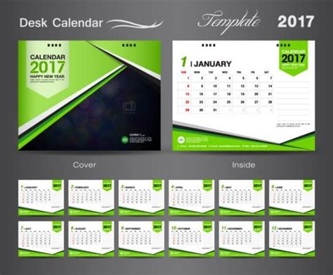 calendar design templates free download desk calendar 2017 vectors template 03 vector calendar