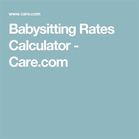 sitter rates best 25 rates ideas on part time nanny babysitting and