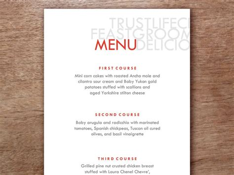home menu template 45 best images about printable wedding menu templates on