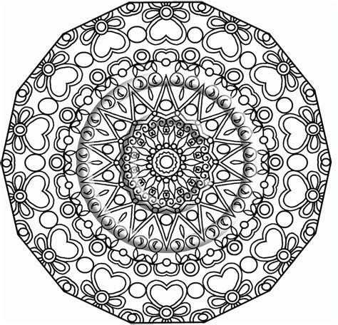The Awesome Mandala Coloring Pages Pdf Pertaining To The Awesome Mandala Coloring Pages
