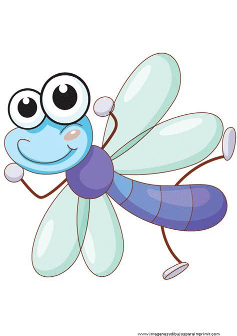 imagenes infantiles libelulas insectos para imprimir gratis