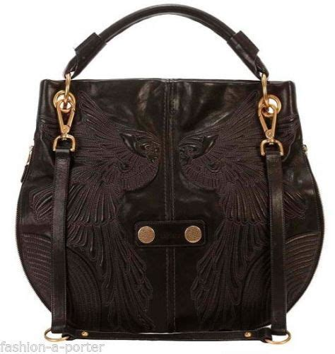 Mcqueen Safety Pin Purse by Mcqueen Leather Skull Wings Hobo Shoulder