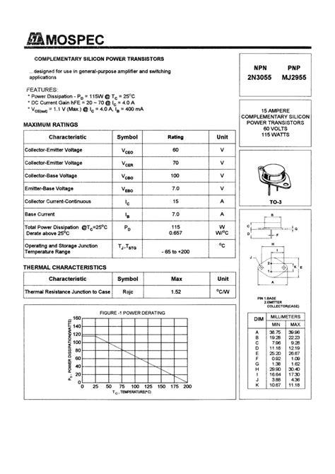 datasheet transistor npn 2n3055 transistor npn 2n3055 to3 b7h5