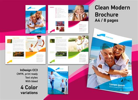 Brochure Indesign Template By Redeffect7 On Deviantart Designing Templates With Indesign