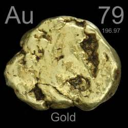 Au Protons Antique Nugget A Sle Of The Element Gold In The