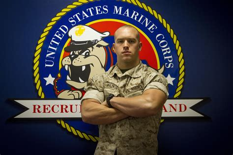 Marine Corps Recruiting Office by Of Defense Marine Officer Tackles Challenges Sacks