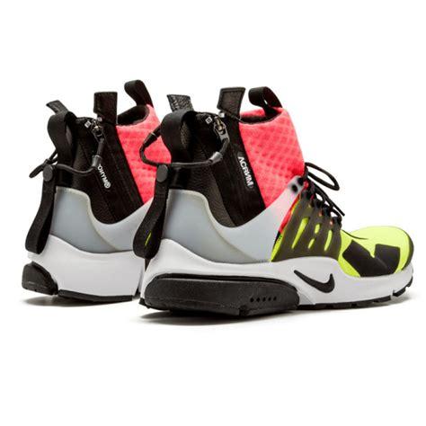 Nike Air Presto Lab Acronym nike lab air presto mid nike x acronym mens lava volt black 844672 100 sneakers gear