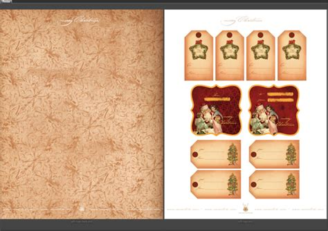Artwork Proof Template by Free Printables Vintage Christmas Gift Tags Double