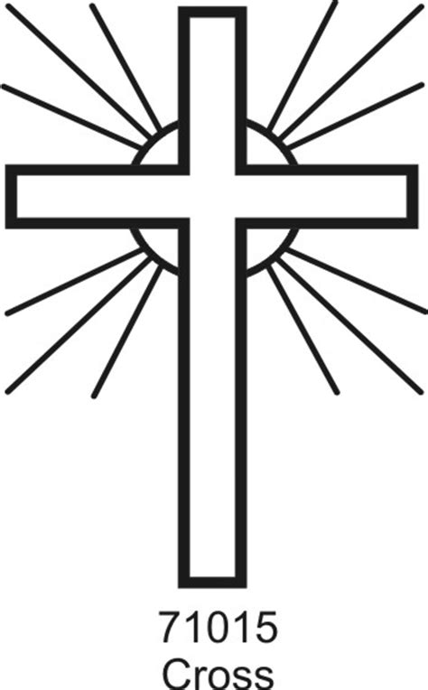 outline of the cross clipart best