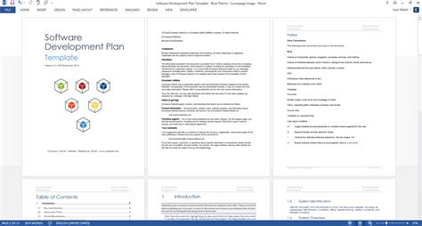 Software Development Template software development plan template ms word